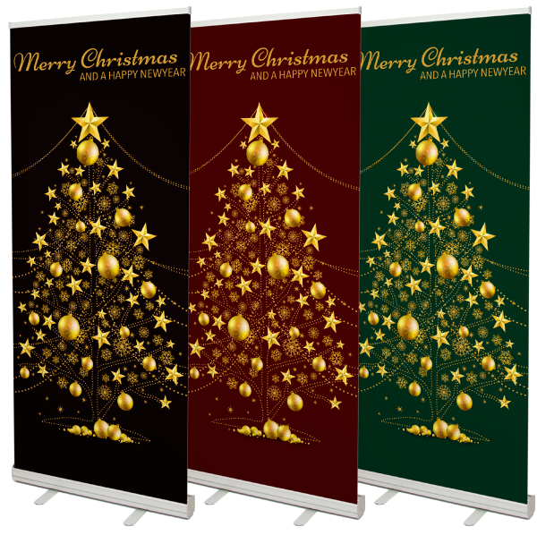 kerst roll up banners